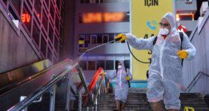 Ankara'da Koronavirüs Önlemi: Ortak Kullanım Alanlarında Dezenfeksiyon Çalışması Yapıldı